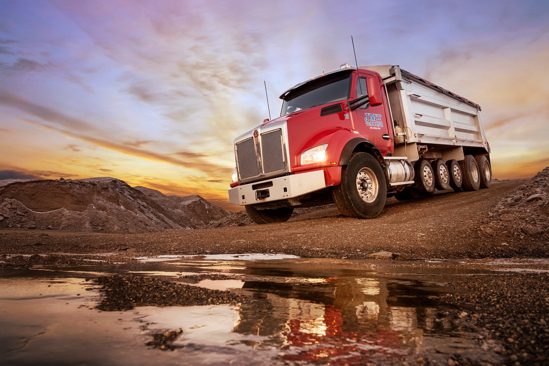 Truck photography. Picture for Allison Transmission.