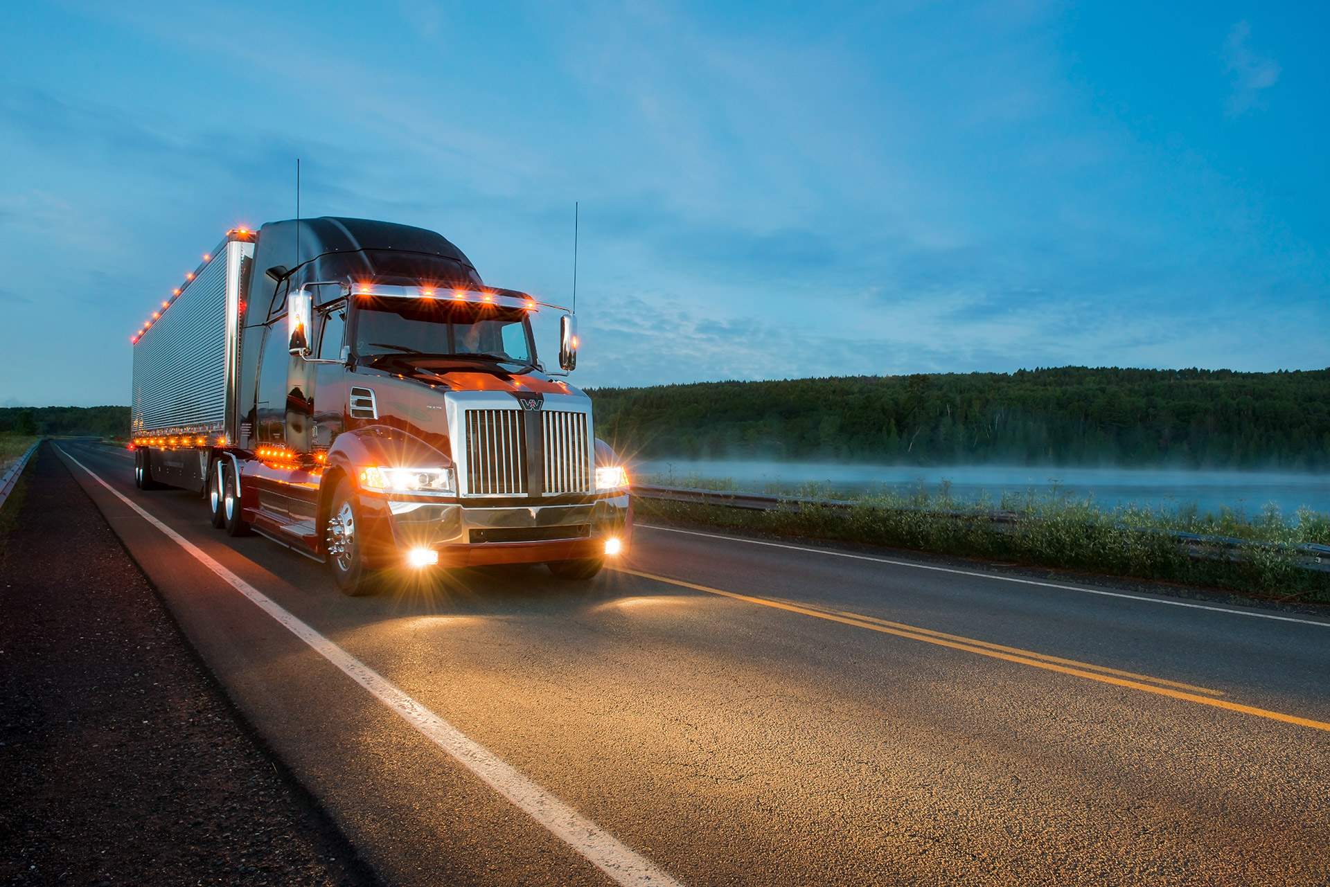 Truck photography. Picture for Western Star Truck. Done by Sonya Messier - Mayacom