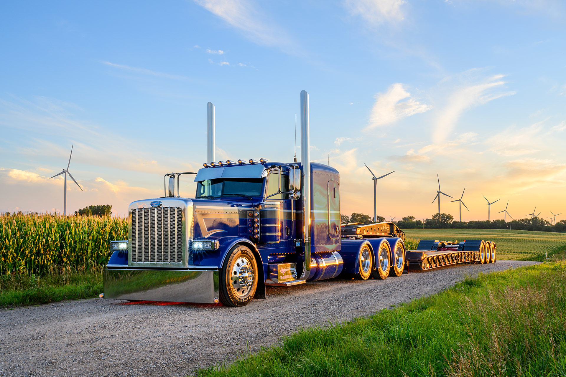 Truck photography for Shell SuperRigs calendar